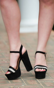 Take The High Road Heel - Black/White***FINAL SALE***