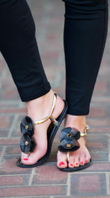 Everything Is Just Rosy Sandal - Black***FINAL SALE***