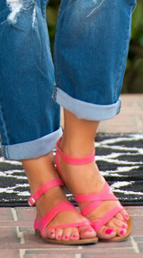 Easy Street Sandal  - Pink***FINAL SALE***