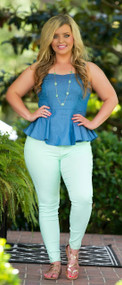 Off Tropic Pant - Mint***FINAL SALE***