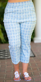 Round Peg In A Square Hole Capri Pant - Blue***FINAL SALE***