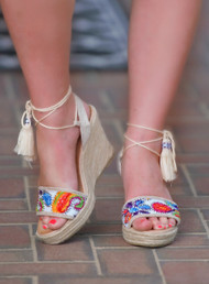 Sunday Stroll Wedge - Off White***FINAL SALE***