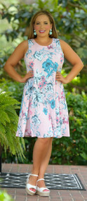 Summer Cottage Dress  -  Pink***FINAL SALE***