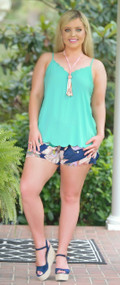 Leave It To Me Short - Navy***FINAL SALE***