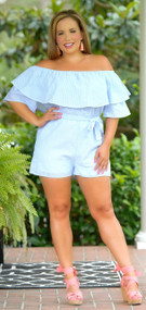 Room To Roam Romper - Blue***FINAL SALE***