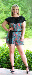 All The Wave Romper - Black/Coral***FINAL SALE***