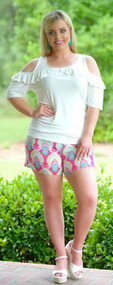 Brains And Bronze Short - Fuchsia/Mint***FINAL SALE***