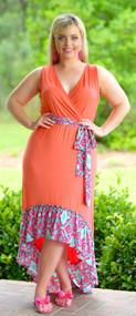 How's The Humidi-Tea Dress - Coral/Pink***FINAL SALE***