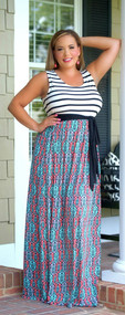 Never A Dull Moment Maxi - Black/Coral***FINAL SALE***