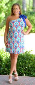 Miles To Maui Dress - Coral & Royal***FINAL SALE***