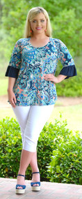 Go With The Flow Top - Navy***FINAL SALE***