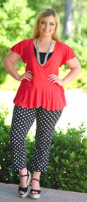 Sway To The Rhythm Wrap Top - Red***FINAL SALE***