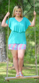 Brains And Bronze Short - Mint & Magenta***FINAL SALE***