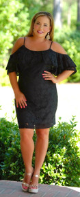 Love Letters Lace Dress - Black ***FINAL SALE***