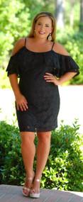 Love Letters Lace Dress - Black ***FINAL SALE***