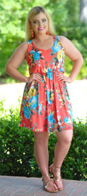 Pride Of Perry Dress - Coral***FINAL SALE***
