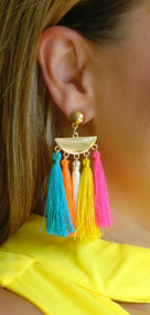 Hanging By A Thread Earring - Multi