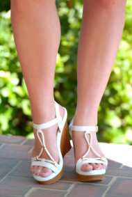 The Halo Wedge - White***FINAL SALE***