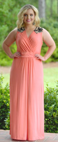 Caught In Your Web Maxi - Coral***FINAL SALE***
