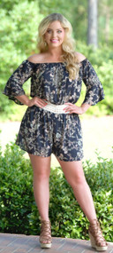 Indian Summer Romper - Navy***FINAL SALE***