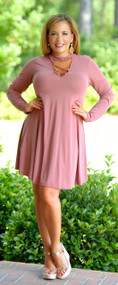 Sign Me Up Dress - Mauve***FINAL SALE***