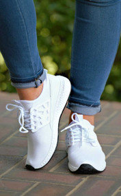 A Mile In Her Shoes Sneaker - White