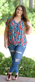 Royally Yours Knot Top - Red***FINAL SALE***