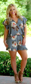 Don't Rain On My Parade Romper - Grey***FINAL SALE***