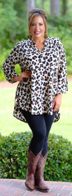 Chase Your Dreams Tunic - Cream / Brown