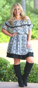 Pretty Little Peek-A-Boo Dress Extender - Black