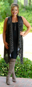 Seeing Spots Vest - Taupe