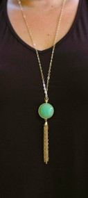 Moon Glow Necklace - Mint