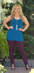 So Very Luxe Wide Strap Cami - Teal Blue