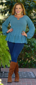 Too Beautiful To Be Blue Top - Jade***FINAL SALE***