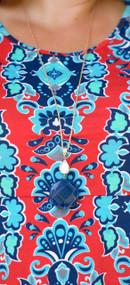 Blue Eyed Lady Necklace