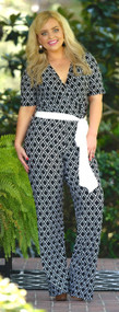 Teach Me To Tango Jumpsuit - Black/White***FINAL SALE***