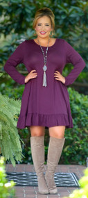 Looking For Trouble Dress - Eggplant