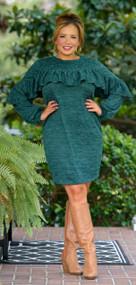 Live In Harmony Dress - Hunter Green