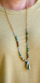Lucky In Love Necklace - Green Multi
