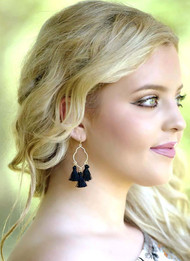 The Kimberly Earring - Black