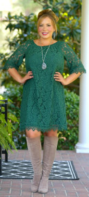 Great Timing Dress - Hunter Green