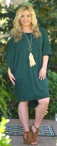 On Bated Breath Dress - Hunter Green***FINAL SALE***
