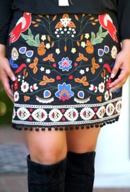 Woodland Wonder Skirt - Black