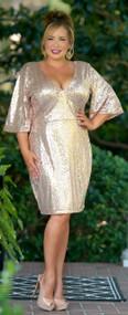Golden Girl Dress - Rose Gold