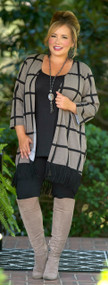 Hanging By A Thread Cardigan - Taupe