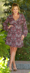 Enchanted Garden Wrap Dress