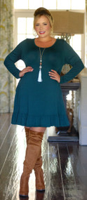 Looking For Trouble Dress - Hunter Green
