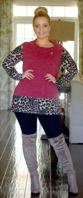 """""""Fur""""-ever Yours Top  -  Dk. Red"""