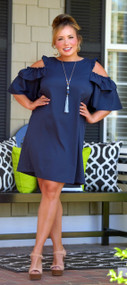 As Perfect As Can Be Dress - Navy***FINAL SALE***