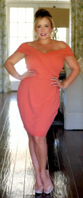 Downtown Romance Dress - Orange***FINAL SALE***